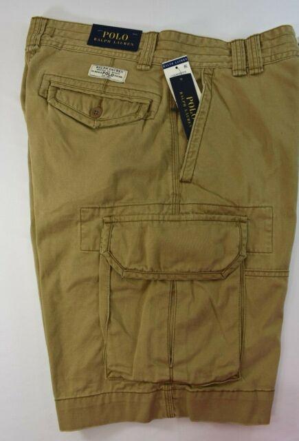 742d1957fb Polo Ralph Lauren Mens Classic Fit Gellar Montana Khaki Cargo Shorts ...