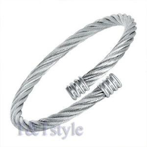 UNIQUE-T-amp-T-Stainless-Steel-Bracelet-Silver-BS12-NEW-ARRIVAL