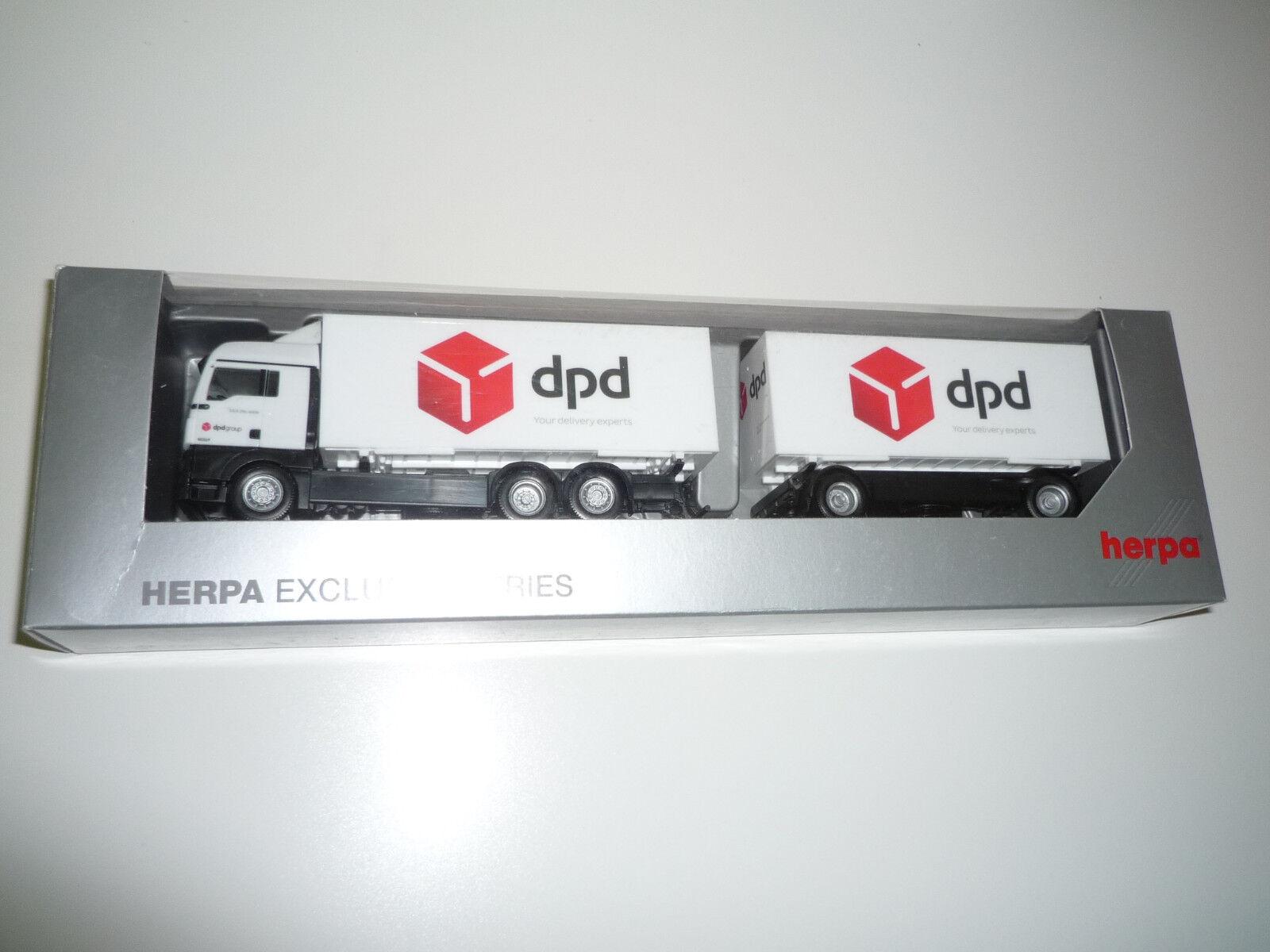 HERPA EX.   - 923842 MAN TGX XLX E DPD -   OVP NX409X
