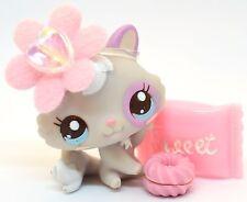 Littlest Pet Shop 2627 Cutest Baby Cat Grey & Pink w/ Blue Eyes & Teal Bow