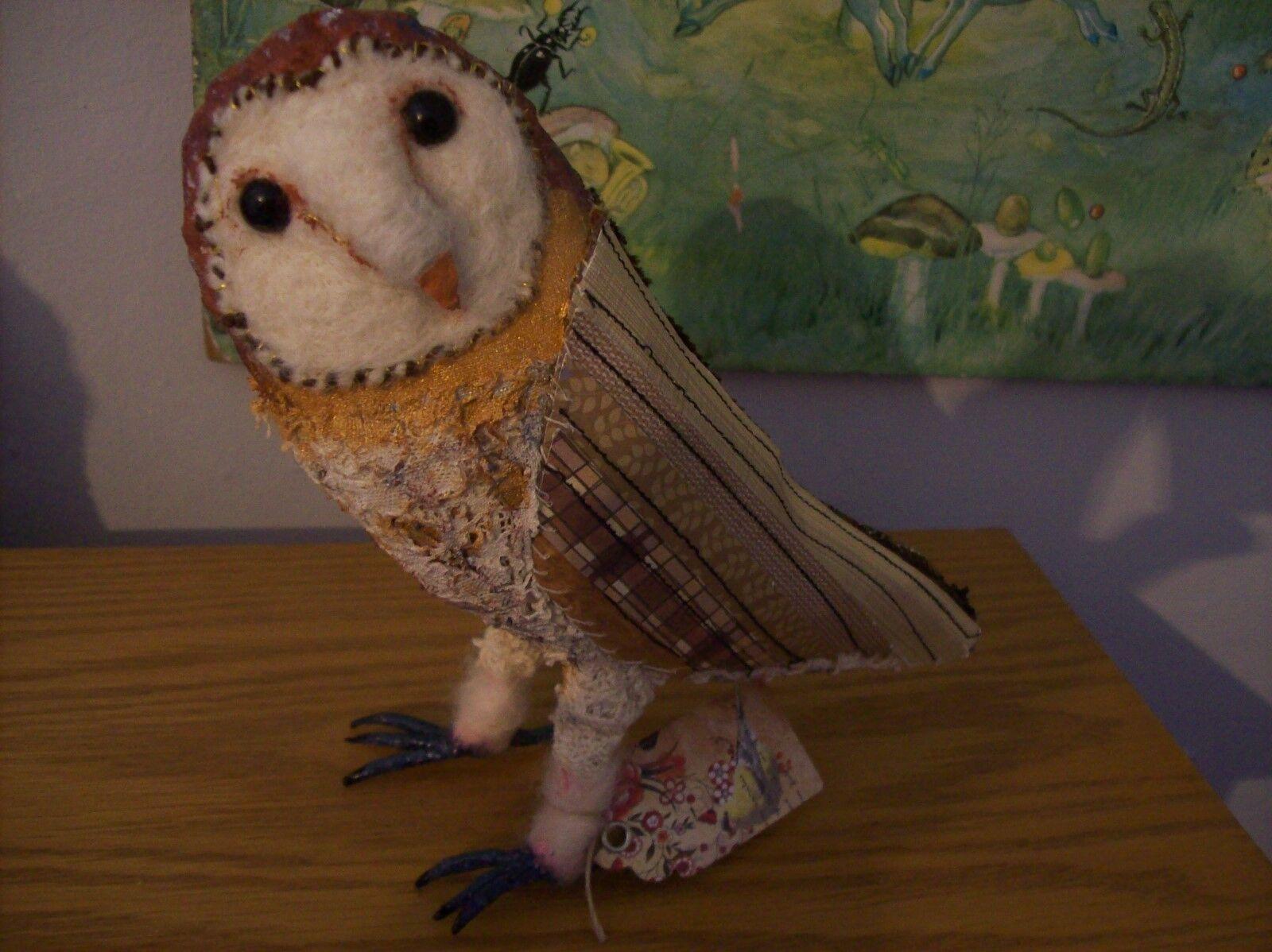 Barn owl - OOAK artists owl. Barn owl.