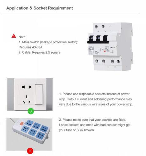SUNKKO 737G Spot Welder Battery Welding Machine LED Light for 18650 110V//220V