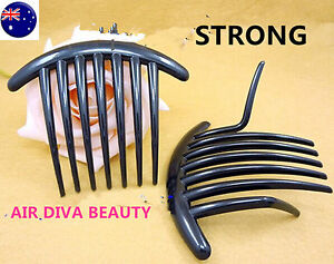 2X-Women-French-Twist-Magic-DIY-Styling-Evening-Party-Black-Hair-comb-Clip-Claw