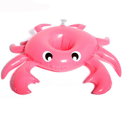 Inflatable Crab Mini Pool Float Toys Drink Holder Cup Swimming Beach Water Bath
