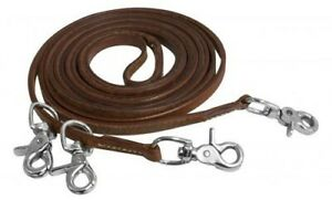 Showman-11-039-Harness-Leather-Draw-Reins-w-Scissor-Snaps-NEW-HORSE-TACK