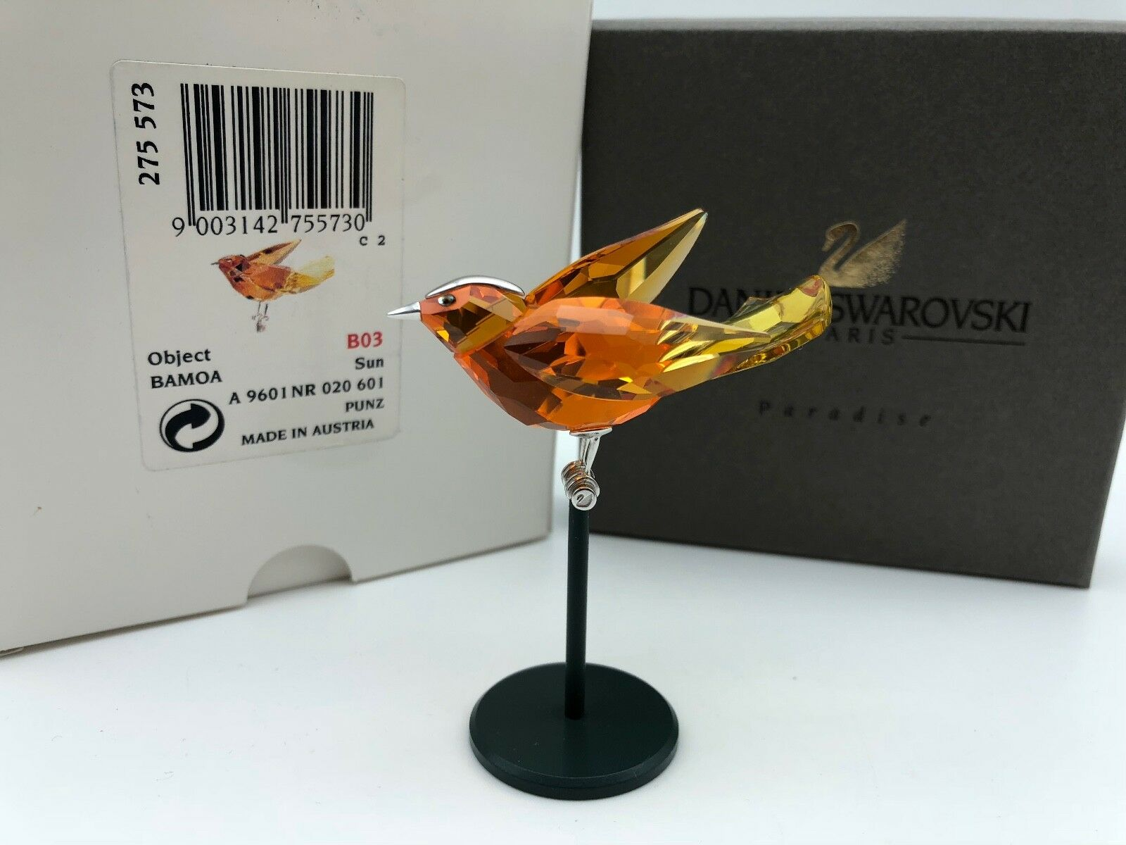 Swarovski Figur 275573 Vogel Bamoa Sun 7,9 cm. Mit Ovp & Zertifikat. Top Zustand
