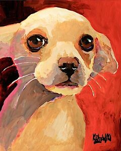 Chihuahua-Dog-11x14-signed-art-PRINT-from-painting-RJK