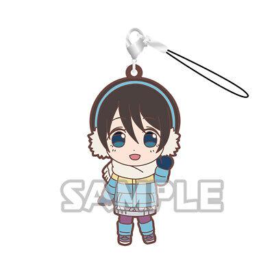 Yuru Camp Swing Mascot Rubber SD Keychain Strap Charm ~ Rin Shima @71738
