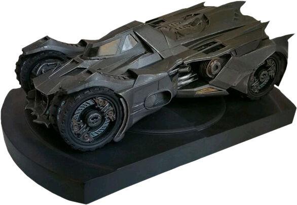 BATMAN  Arkham Knight - 5.75  Batmobile Polystone Bookend (Icon Heroes)  NEW