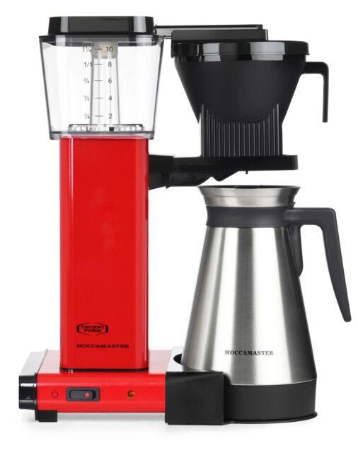 Moccamaster Kaffeefiltermaschine KBGT 741 Red, mit Thermoskanne