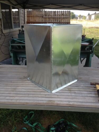 SUPPLY AIR DUCT PLENUM 16 X 16 X 23 1/2 LONG GALVANIZED STEEL 26 GAUGE