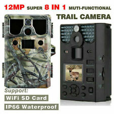 12MP 75FT 8 in 1 HD Hunting Camera WIFI Support TF Card Game Trail Camera US