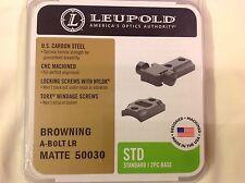 Leupold STD Standard A-Bolt LR Browning mount 50030 Matte 2pc Base Mounts