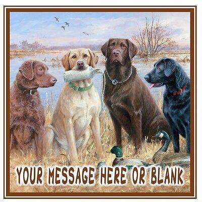 Working gun dogs Labrador dog birthday personalised Square ...
