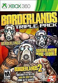 XBOX 360 BORDERLANDS TRIPLE PACK 3 NEW VIDEO GAMES