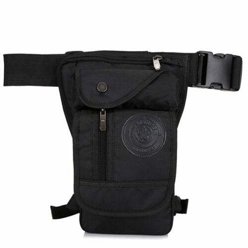 Men/'s Waterproof Nylon Ride Leg Bag Drop Fanny Waist Belt Hip Bum Military Motor