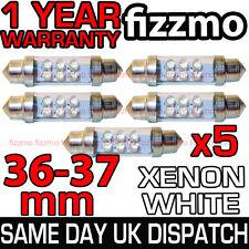 5x 36mm INTERIOR LIGHT 4 LED 239 272 C5W FESTOON BULB XENON WHITE 6000K NUMBER