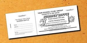 1500 Prize Raffle Tickets / Draw Tickets - in books of 5 - 300 books Fundraising
