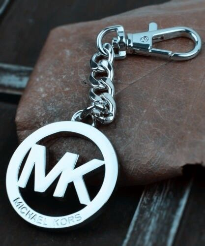 Silver color Letter M@@K Logo Hang Tag Fob Charm Key Chain AUTHENTIC Pendant