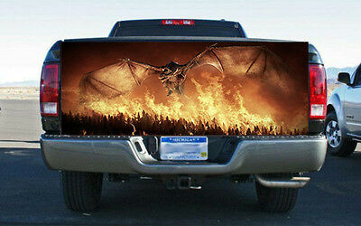 Tire on Fire Pick-Up Truck Tailgate Wraps