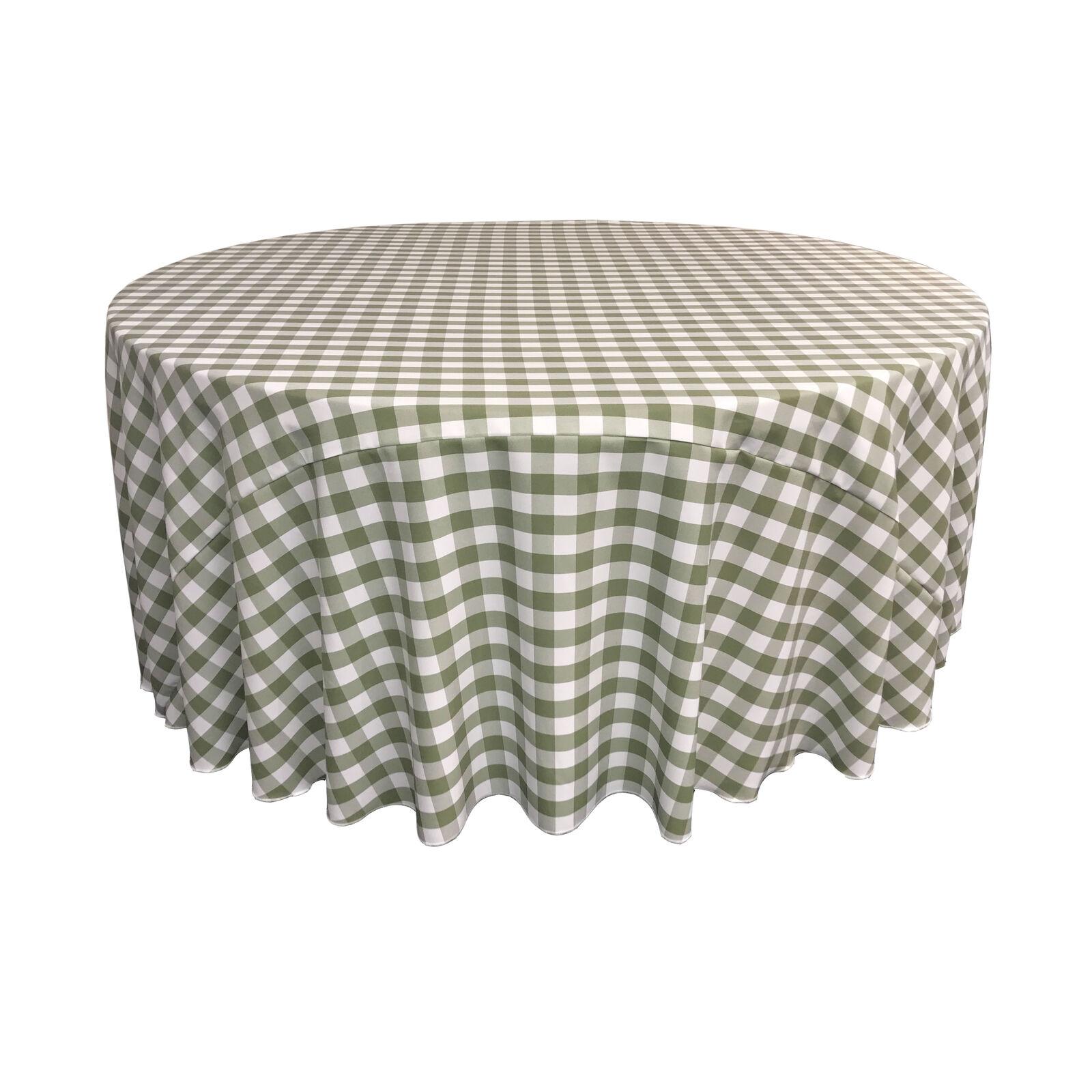 La toile en polyester vichy à carreaux 132 pouces ronde Nappe