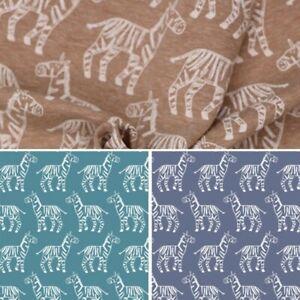 Cotton-Elastane-Stretch-Jersey-Fabric-Zebra-Sketched-Outlines-Animal-Wildlife