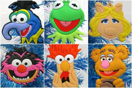 NEW Beaker The Muppets 6 Piece Christmas Ornament Set w Kermit Piggy Animal