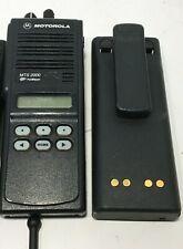 1 Motorola Mts2000 Portable 2 Way Radio H01uch6pw1bn Not Programmed