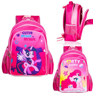 11bee3347e3f Details about Kids Girls 16'' My Little Pony Cartoon Shoulder Backpacks  School Book Bag
