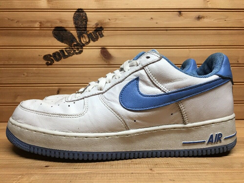 c49faab2be4 2002 Nike Air Force One 1 Low B White Columbia bluee 624040-142 CR 12 sz  nxkqpo1099-Athletic Shoes