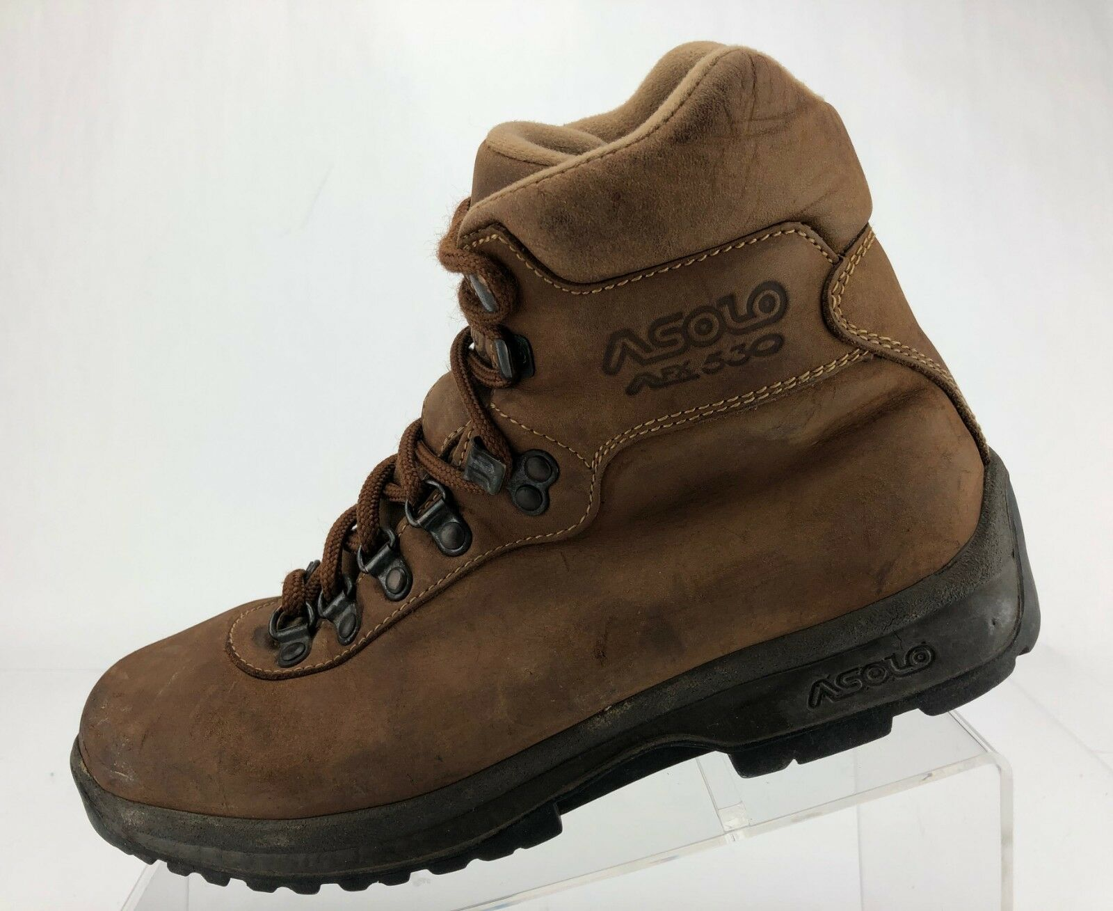 Asolo Ankle Boots AFX 530 Trail Hiking Brown Leather Trekking shoes Mens 7.5