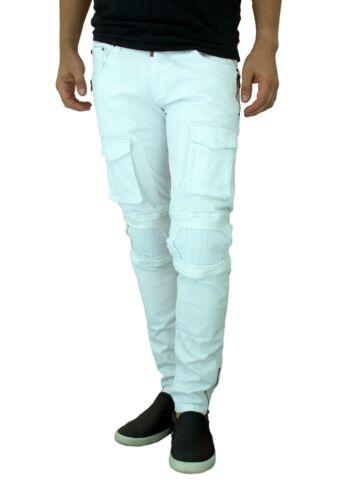 ETZO Men/'s biker jeans Slim Skinny fit premium Ripped Distressed Denim J7631