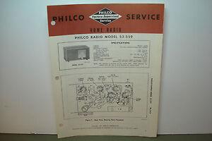 PHILCO-RADIO-SERVICE-MANUAL-MODEL-53-559
