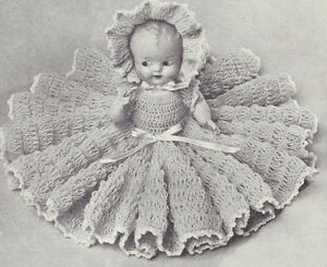 Vintage Crochet Pattern To Make 11 Inch Bed Doll Baby