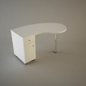 Image Is Loading Manicure Station Table Nail Bar Desk Curved