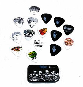 BEATLES-GUITARE-15-Choix-Signature-Series-Sgt-Peppers-Planet-Waves-Pick-Tin