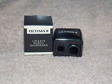 Ultima II LIP & EYE Pencil Sharpener 3 Pencil Sizes Removeable Adapter New Box