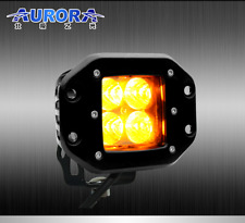 Aurora LED Cube Light 12 watt **AMBER** *Flood Beam* **Flush Mount**