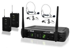 PYLE PDWM3400 Premier Series Professional UHF Microphone System with Two Body-Pack Transmitters, Headsets and Lavaliers Canada Preview