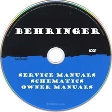 Behringer Owner Manuals & Schematics- PDFs on DVD - Huge Collection Latest