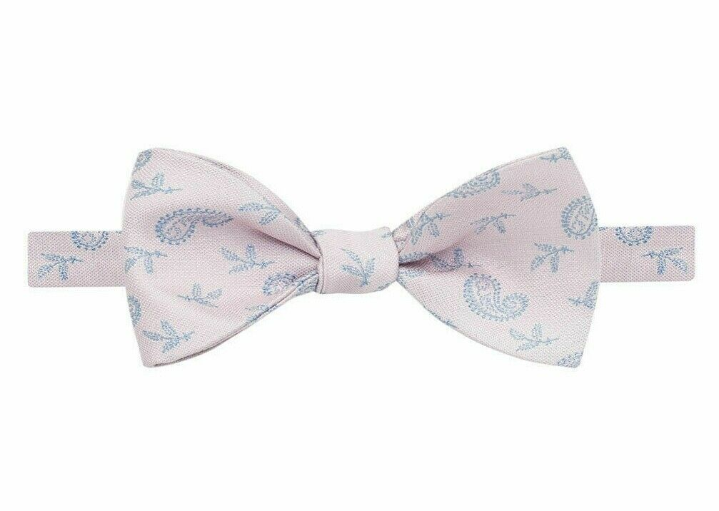THOMAS PINK Vaux Paisley Self Bow Tie Silk Pink/Blue RRP BNWT