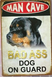 MANCAVE-DOG-Garage-Rustic-Look-Vintage-Tin-Signs-Man-Cave-Shed-amp-Bar-Sign