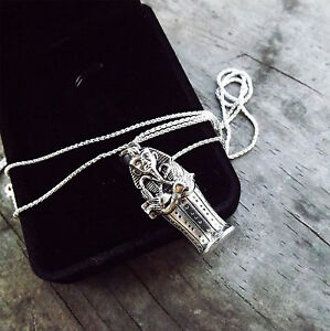 Egyptian-Mummy-in-Sarcophagus-Sterling-Silver-Locket-Pendant-amp-Chain-boxed