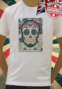 9dd4a8af Mexican Skull Floral Funny Hipster Kids Boys Girls Unisex Top Gift T ...
