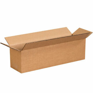 """14/"""" x 4/"""" x 4/"""" Cardboard Packing Mailing Shipping Corrugated Box Cartons Moving"""