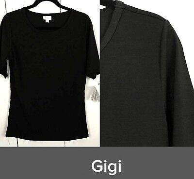 LuLaRoe NOIR Collection New Solid Black Fitted Gigi Top 2XL
