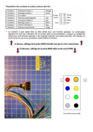 5 Connecteurs 2.54 interface NEM 652 8 PIN décodeur DCC tams  Réf 70-01001-01 HO