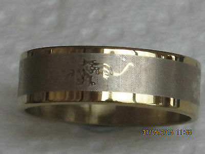 Stainless Steel Scorpion Zodiac Sign Flat Band Ring