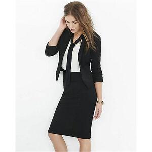 Details About Black Womens Business Suits Las Skirt Suit Female Office Uniform 2 Piece Set