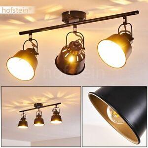 Decken Lampen 2-flammig Flur Strahler Wohn Schlaf Zimmer Leuchten schwarz//Gold